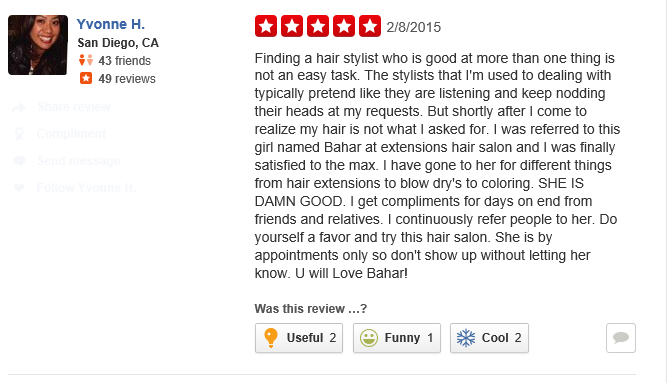 Extensions Hair Salon Reviews